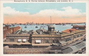 Pennsylvania Railroad Ferries Between Philadelphia and Camden New Jersey