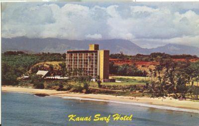 Kauai Surf Hotel, Hawaii, unused chrome Postcard