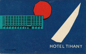 Hungary Tihany Hotel Tihany Vintage Luggage Label sk3686