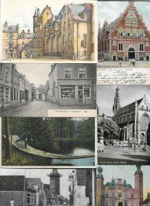 Netherlands Oudewater Arnhem Ijsselmuiden And More Lot of 40 Postcards 01.07