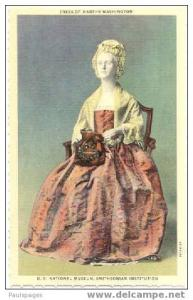 Dress of Martha Washington in Smithsonian, Washington, DC, Linen