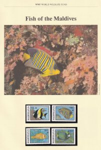 Fish Of The Maldives WWF Stamps and Set Of 4 First Day Cover Bundle