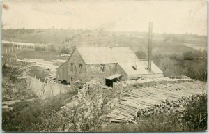 1910s RPPC Real Photo Postcard The Harris Mill LUMBER MILL Bird's-Eye View
