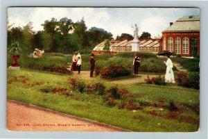 St Louis MO-Missouri, Juno Statue, Shaw's Garden, Vintage Postcard