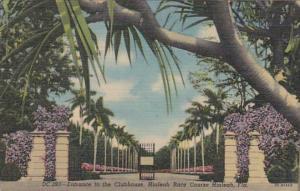 Florida Miami Entrance To Clubhouse Hialeah Race Course Curteich