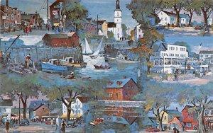 Rockport Montage Massachusetts Postcard