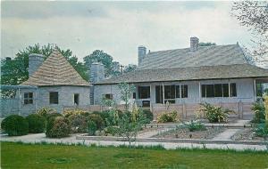 Ste Genevieve Missouri~Garden Of Bolduc House~1960s Postcard