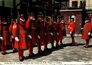 England London Tower Of London Inspection Of Yeoman Warders and Gaoler