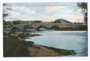 Reading PA Berkley Stone Bridge Crossing Maidencreek Vintage