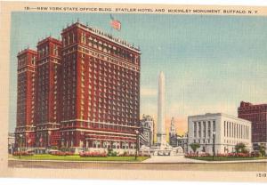 Buffalo NY State Office Bldg Statler Hotel McKinley Monument