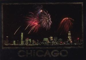 Illinois Chicago Fireworks Over Chicago