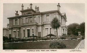 Allerdale Hotel Lawn Torquay Lillywhite Devon UK 1920s RPPC Photo Postcard 5711