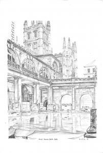 uk1917 great roman bath bath real photo uk
