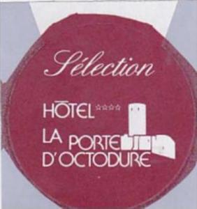 SCHWEIZ MARTIGNY HOTEL LA PORTE D'OCTODURE VINTAGE LUGGAGE LABEL