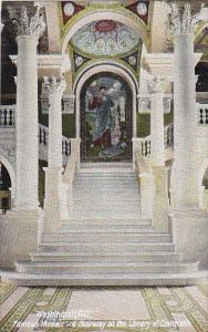 Famous Mosaic and Stairway at the Library Of Congress Washington DC