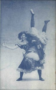 RISQUE Pretty Strong Woman Lifts Other Woman c1910 Postcard