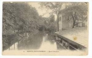 SAINT-MENEHOULD, France- Quai l'Herbette, 00-10s River Laundry station