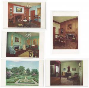 Odessa DE Corbit Sharp House Interior Rooms 5X Postcards