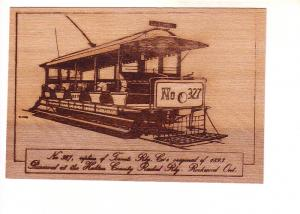 Toronto Railway Co Replica 327 Halton County Radial Rockwood Ont Sketch on Th...