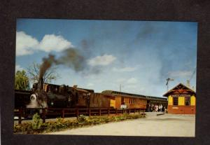 WI Mid Continent Railroad Train North Freedom Station Depot Wisconsin Postcard