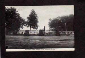 MA Entrance Lake Nipmuc Park Mendon Mass Massachusetts Postcard