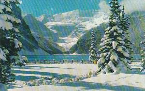 Canada Alberta Lake Louise Snowy Winter Blanket At Lake Louise