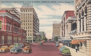 Florida Tampa Street Scene Looking North 1951 Curteich sk5219