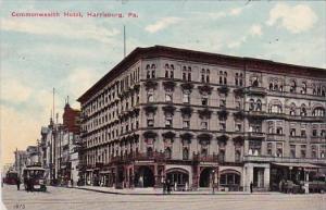 Commonwealth Hotel Harrisburg Pennsylvania 1911