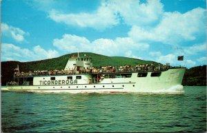 Lake George,NY MV Ticonderoga Warren County Cruise Ship New York Chrome Postcard