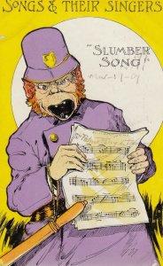 Policeman sings Slumber Song , 1909