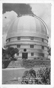 Fort Davis Texas McDonald Observatory 1952 RPPC Photo Postcard 21-5996