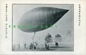 1907 Zeppelin Postcard: Knabenshue's American Airship