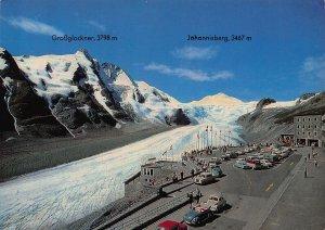 Grossglockner Hochalpenstrasse Parkplatz Freiwandeck Gletscherbahn Cars Postcard