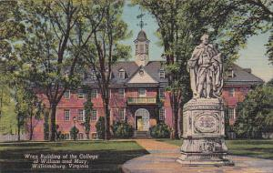 Virginia Williamsburg Wren Building Of The College Of William And Mary