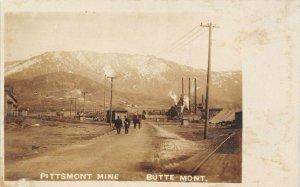 LP16  RPPC  Butte Montana Postcard Pittsmont Mine Mining