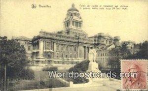 Palais de Justice Bruxelles, Belgium 1920 Stamp on front