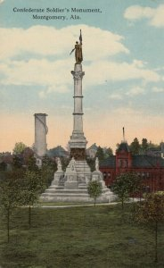 MONTGOMERY, Alabama, 1917; Confederate Soldier's Monument