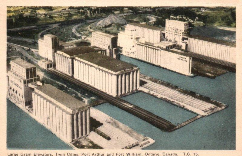 Large Grain Elevators,Port Arthur and Fort William,Ontario,Canada