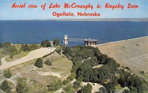 Ogallala Nebraska~Aerial View Of Lake McConaughy And Kingsley Dam~1960