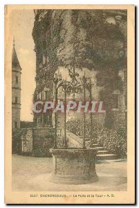 Old Postcard Chenonceaux The Pit and the Tower