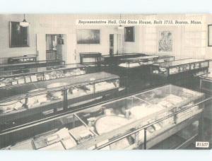 W-Border REPRESENTATIVE HALL AT THE OLD STATEHOUSE Boston Massachusetts MA E8253