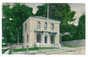Damascus to Auburn, Maine 1906 used Postcard, Waldoboro Post Office