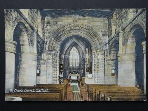 Staffordshire STAFFORD St Chad's Church c1905 Postcard by W.H. Smith of Stafford