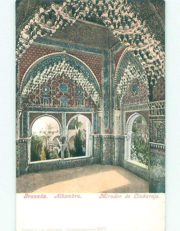 Pre-1907 NICE VIEW Alhambra In Granada - Andalusia Spain i5198