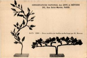 CPA PARIS (3e) Cnam - Deux modeles de feuilles en fer (215265)