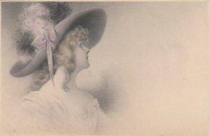 M.M.VIENNE : Female Head Portrait by Wichera , 1905 , #3
