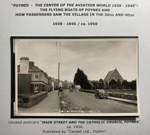 Mint Real Picture Postcard Main Street & Catholic Church Foynes Ireland