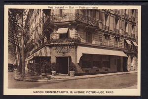 Maison Prunier Traktir Restaurant Paris France Postcard 5353
