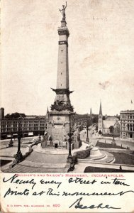 Indiana Indianapolis Soldiers and Sailors Monument 1906
