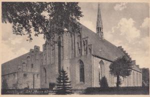 Helsinger Marie Church St. Mariae Kirke Old Denmark Postcard